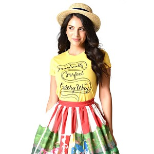 Unique Vintage Practically Perfect Short Sleeve Unisex Tee Yellow