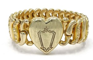 Vintage American Queen Sweetheart Expansion Bracelet