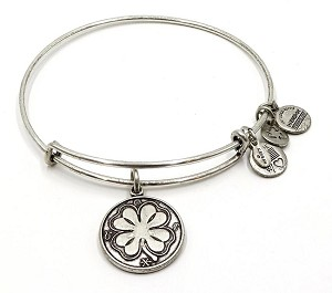 Alex And Ani Four Leaf Clover Bracelet Silver