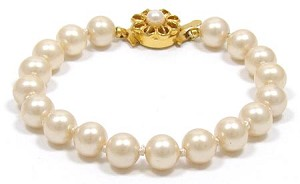 Vintage Knotted Faux Pearl Bracelet From Japan