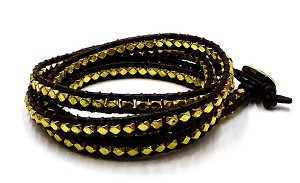 Lulu Dharma Gold Five Wrap Bracelet