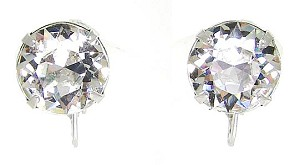 Vintage Gorgeous Eisenberg Clear Single Stone Earrings
