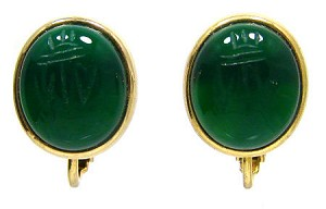 Vintage Egyptian Revival Scarab Earrings