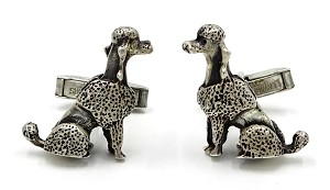 Vintage Fenwick And Sailors Sterling Poodle Cuff Links