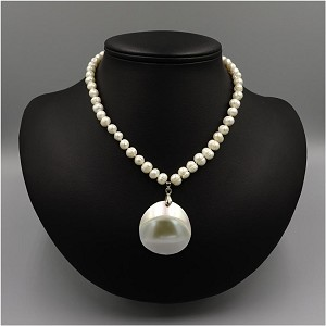 Freshwater Pearl Shell And 18KGP Necklace Petite