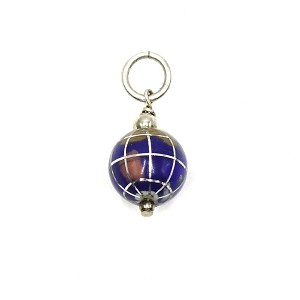 Sterling And Enamel World Globe Charm