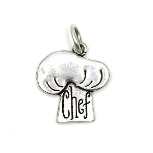 Sterling Chefs Hat Charm