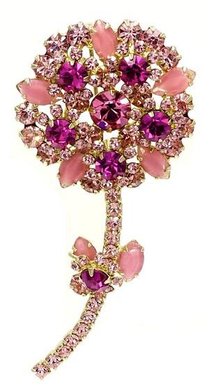Juliana de pink rhinestone flower pin verified mightylinksfo