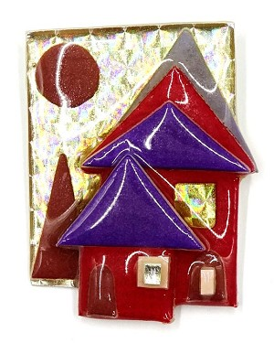 Lucinda Gold Holofoil House Pin