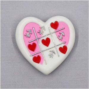 Tic Tac Toe Valentines Heart Pin By AGC
