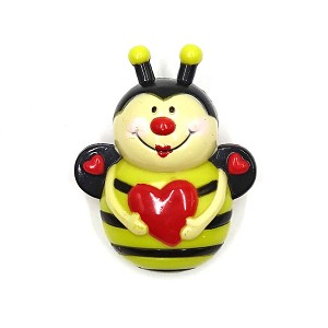 Light Up Bee With Heart Pin Vintage