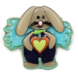 Lucinda Boy Easter Bunny Fairy Pin Rare