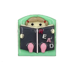 Lucinda Book Pin Little Girl Reading