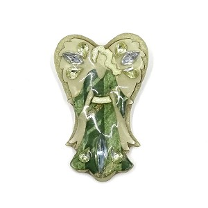 Lucinda Green And Light Green Angel Pin