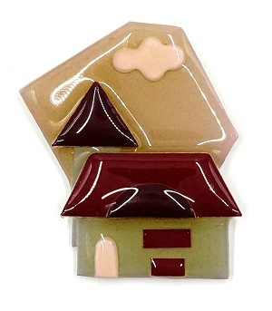 Lucinda House Pin With Maroon Roof
