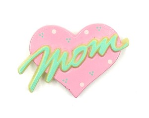 Vintage Mom Heart Pin By Gibson Greetings