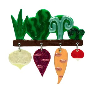 Adorable Resin Root Vegetables Pin