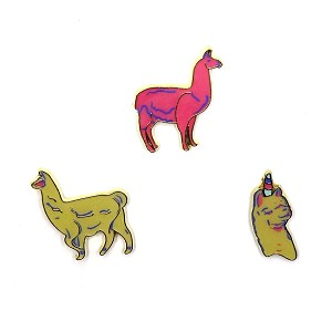 Three Piece LLama Pin Set