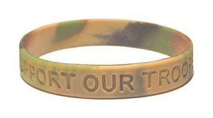 Total Camo Support Our Troops Wristband-Adult