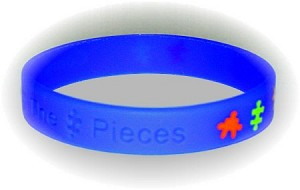 Medium Blue Autism Puzzle Wristband