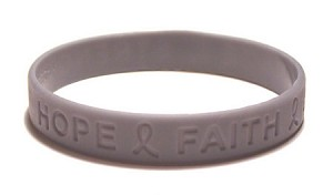 Inspirational Gray Wristband