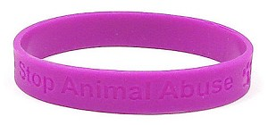 Hot Purple Stop Animal Abuse Wristband - IRREGULARS