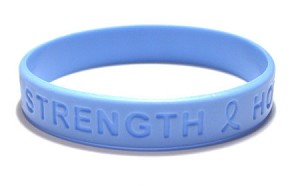 Inspirational Light Blue Wristband