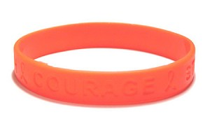 Inspirational Orange Wristband-Adult