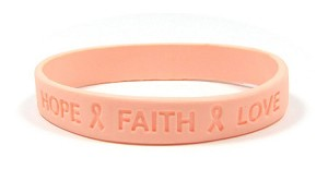 Peach Hope Faith And Love Wristband - Irregulars