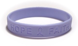 Inspirational Light Periwinkle Wristband
