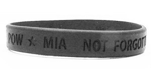 POW MIA Not Forgotten Wristband