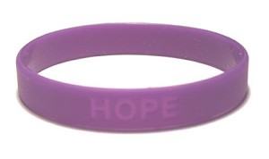 Purple Hope Wristband-Medium