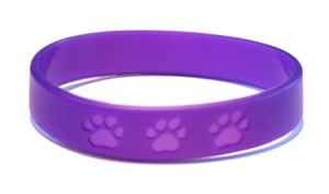 Purple Paws Wristband