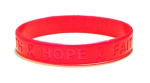 Inspirational Red Wristband