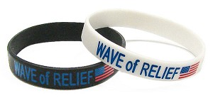 Wave Of Relief Wristband Pick Your Color