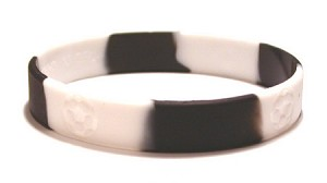Black And White Soccer Wristband
