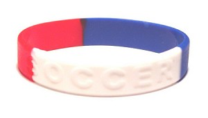 Red White And Blue Soccer Wristband-Medium