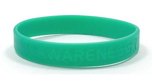 Teal Awareness Wristband