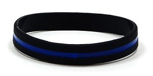 Thin Blue Line Wristband-Adult