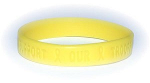 Yellow Support Our Troops Wristband