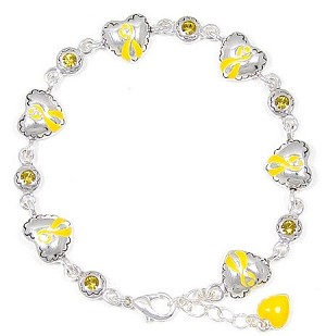 Adjustable Yellow Ribbon Bracelet