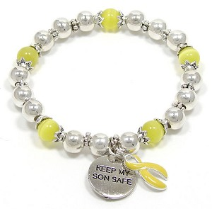 Keep My Son Safe Beaded Bracelet