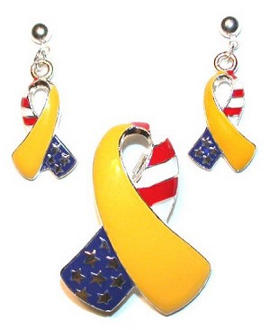Patriotic Yellow Ribbon Set